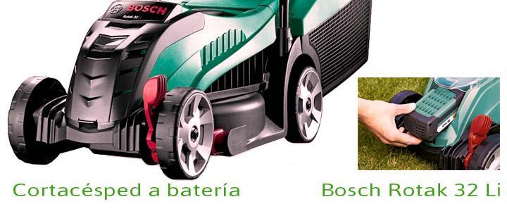 Cortacésped a batería Bosch Rotak 32 Li