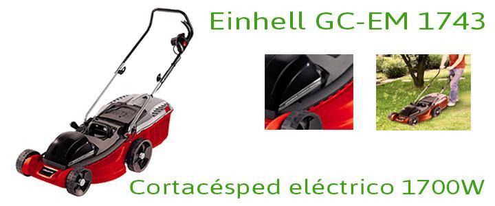 Einhell GC-EM 1743, cortacésped con 1700W de potencia