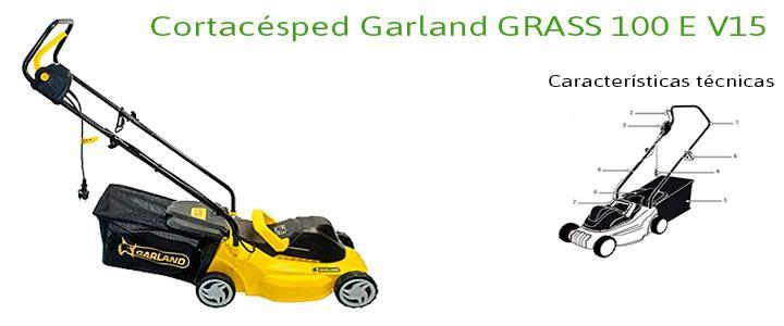 Cortacésped Garland GRASS 100 E V15