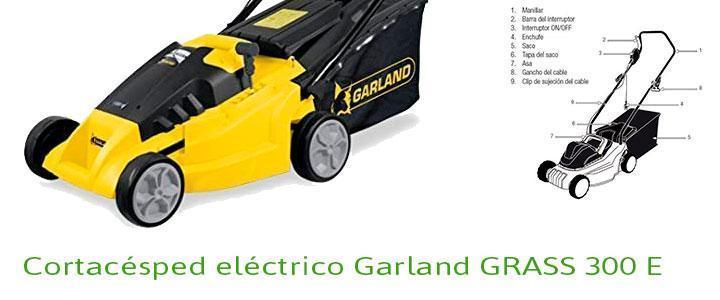 Cortacésped eléctrico Garland GRASS 300 E