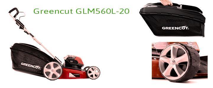 Greencut GLM560L-20, Cortacésped a batería