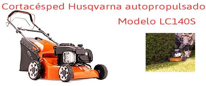 Cortacéspedes Husqvarna LC140S autopropulsado