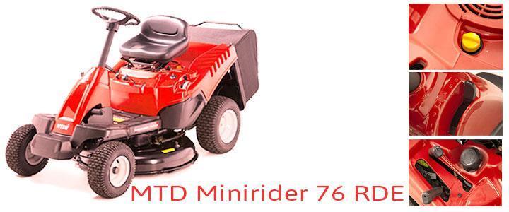 MTD Minirider 76 RDE, tractores cortacésped a gasolina